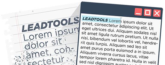 OCR SDK Technology | LEADTOOLS